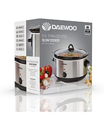 Daewoo 6.5L Slow Cooker Stainless Steel SDA1788