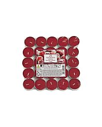 Aladino Frosted Cherry Tealights Pack of 25- ALT251704