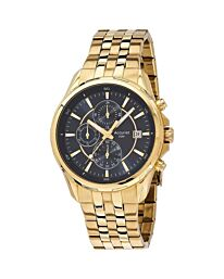 Accurist Men's Chronograph Gold Bracelet Wristwatch MS933BK