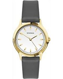 Sekonda Ladies Round Dial Brown Leather Strap Watch 2815