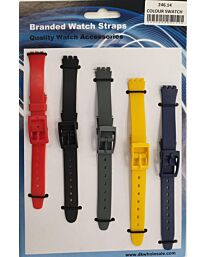 Swatch watch straps to fit Swatch watch 5pk Assorted Colours 245 14mm