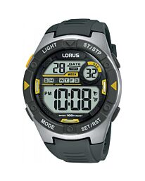 Lorus Gents/Children's Digital Plastic Strap Watch Charcoal/Grey R2397MX9
