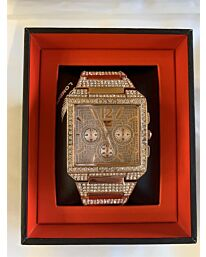 PI-7573 NY LONDON GENTS BLING WATCH ROSE GOLD