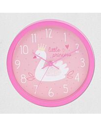 SWAN PRINCESS PINK WALL CLOCK