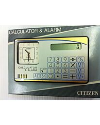 Citizen Dual Time Analogue Travel Alarm with Calculator , white