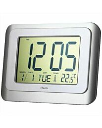 RAVEL WALL/DESK JUMBO DIGITAL ALARM CLOCK SILVER/WHITE RCD003.1