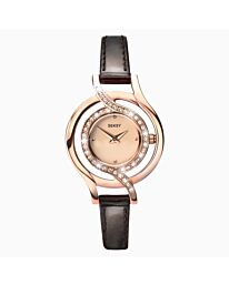 SEKSY Ladies Watch | Rose Gold Case & Leather Strap with Rose Gold Dial | 2039