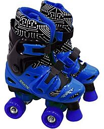 Elektra Adjustable Quad Boot (Medium, Black/ Blue)