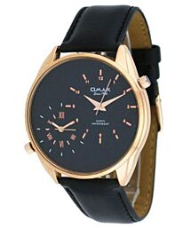 OMAX Men's Classic Dual Time Analogue Watch S002