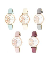 Henley Women's Fashion Casual Butterfly Design Leather Strap Watch H06146