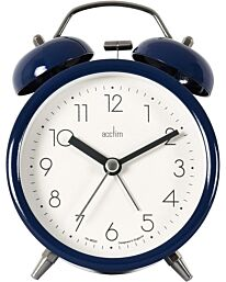 Acctim Askel Double Bell Alarm Clock in Midnight Blue 15949