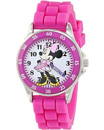 Disney Minnie Mouse Girls Child Analogue Classic Watch Rubber Strap MN1157