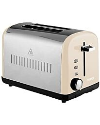 Tower Infinity 2-Slice Toaster Stainless Steel 900w Cream T20014C