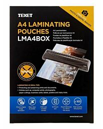 Texet A4 Laminating Pouches - Pack of 100