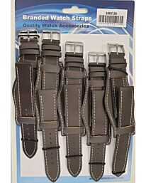 Leather Tan Military Watch Straps Pk5 Available sizes 18mm – 24mm 1007TN