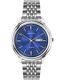 Sekonda Mens Watch with Blue Dial and Stainless Steel Bracelet 1731