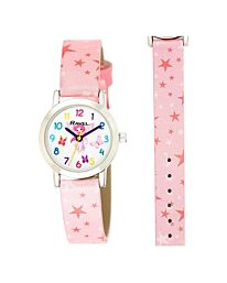 Ravel Children's Pink Stars Watch