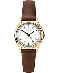 Sekonda Ladies Round Dial Brown Leather Strap Watch 2814