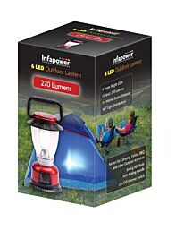 Infapower 6 LED Outdoor Lantern 360 degree 5-8m Beam Distance