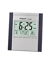 Kadio Digital Wall Mounted Clock with Temperature Day/Date Dispaly KD-3810N