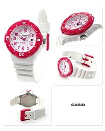 Casio Women's Analog Rubber Strap Red Watch