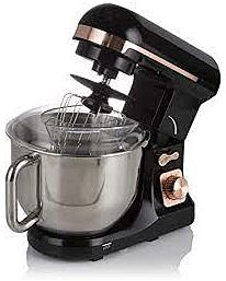 Tower T12033RG Stand Mixer Removable 5 Litre Stainless Steel 1000 W, Black and Rose Gold