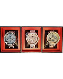 PI-7498 NY LONDON GENTS BLING WATCH ASSORTED COLOURS