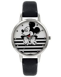 Disney Mickey Mouse Womens Analogue Classic Quartz Watch with Leather Strap MK5089