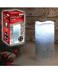 The Christmas Workshop 47250 LED Snowflake Projector Candle-4 Rotating Images, PP, White