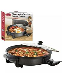 Quest 30cm Multi-Function Electric Cooker Pan with Lid, 1500 W- 35410
