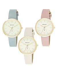 Henley Women's Fashion Casual Minimal Gold Tone Watch H06156