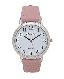 Ravel Ladies Classic Strap Large Watch Pink R0137.05.1