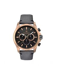Accurist Men's Chronograph Rose Gold Case Leather Strap Wristwatch 7179
