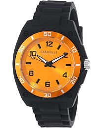 Caravelle New York Men's Analog Display Japanese Quartz Black Watch 45A112