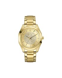 Caravelle New York 44L159 Women's Yellow Bracelet Band Champagne Dial Watch