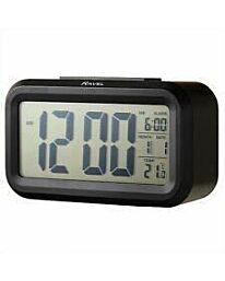 Ravel Big Digit Light Sensor Alarm Clock Black RCD006.3
