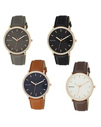 Henley Men's Classic Analogue Leather Strap Watch H02198