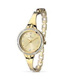 Accurist Women's Gold Plated Bracelet Wristwatch 8010