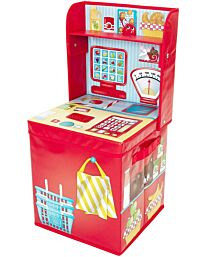 Fun2Give Pop-It-Up Market Stall / Play Shop Space-Saver with Storage