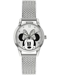 Disney Womens Analogue Classic Quartz Watch with Stainless Steel Strap MN8008