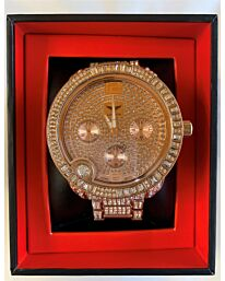 PI-7498 NY LONDON GENTS BLING WATCH ROSE.GOLD
