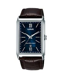 Lorus Mens Analogue Classic Quartz Watch with Leather Strap RH911JX9