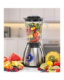 Daewoo Stainless Steel Smoothie & Shake Jug Blender | 1.5L Glass Jug | 2 Speed Settings & Pulse | Non-Slip Feet | Grinder Fitting Included | Rust Proof Blades | Removable Filling Cap 500W Power, Glass