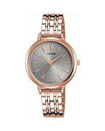 Lorus Women's Fashion Designer Analogue Gold Bracelet Watch RG296PX9