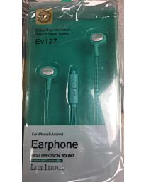 ELMCOEI Earphone Fashion and Comfortable for Iphone & Android EV127 Green