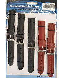 R007.005 5PK LEATHER STRAPS AVAILABLE SIZES 18mm TO 22mm