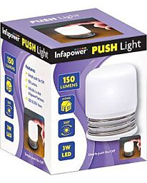 Infapower Push Light 150 Lumens 3w LED (Pack of 12)