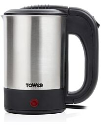 Tower Travel Kettle with Two Cups Boil Dry Protection - T10026