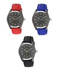 Henley Men's Minimal Silicone Sports Metal Case Rubber Strap Watch H02176