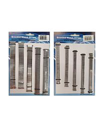 Gents And Ladies Metal Chrome Expander Watch Straps 5 Pk Available in Silver Tone 141GL